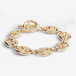 Oval Chain Toggle Bracelet   Express