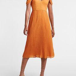 Crinkled Off The Shoulder Midi Dress | Express