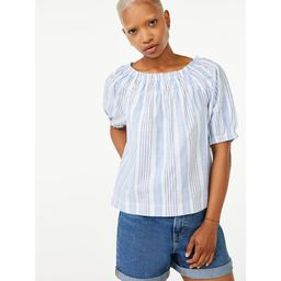 Free Assembly Women's Puff Sleeve Top | Walmart (US)