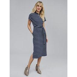 Time and Tru Women's Knit Midi Dress with Belt | Walmart (US)