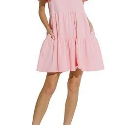 Women's English Factory Puff Detail Knit Dress, Size Large - Pink | Nordstrom