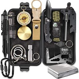 EMDMAK Survival Gear, Outdoor Emergency Survival Kit for Camping Hiking Hunting Fishing Travellin... | Amazon (US)