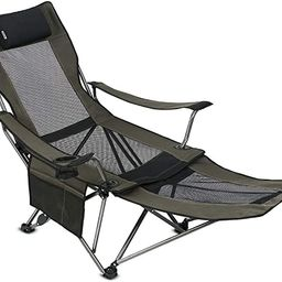 OUTDOOR LIVING SUNTIME Camping Folding Portable Mesh Chair with Removabel Footrest | Amazon (US)