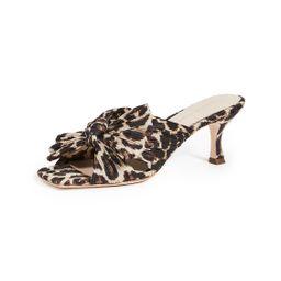 Loeffler Randall Eugenia Pleated Knot Square Toe Slides | Shopbop