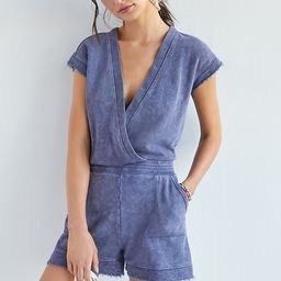 Daily Practice by Anthropologie Frayed Surplice Romper   Anthropologie (US)