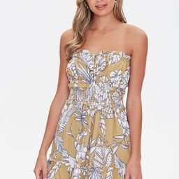 Tropical Floral Mini Dress   Forever 21 (US)