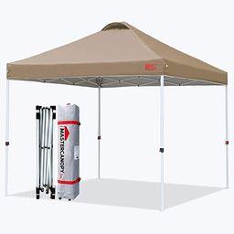 MASTERCANOPY Durable Ez Pop-up Canopy Tent with Roller Bag (10x10, Khaki) | Amazon (US)
