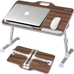 Laptop Desk Kavalan Foldable Laptop Table with Top Handle, Adjustable Height Desk Serving Tray on... | Amazon (US)