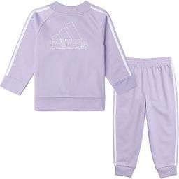 adidas baby-girls Li'l Sport Tricot Jacket & Jogger Active Clothing Set   Amazon (US)