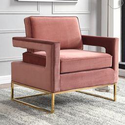 Binghamton 33.5'' Wide Velvet Armchair   Wayfair North America