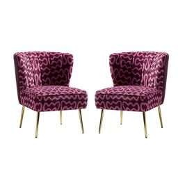 Claudie 26'' Wide Tufted Side Chair (Set of 2)   Wayfair North America