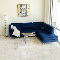 "Bruno 101"" Wide Velvet Sofa & Chaise   Wayfair North America"