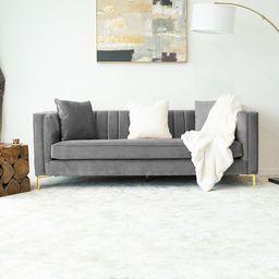 """Jacqueline 85"""" Velvet Square Arm Sofa   Wayfair North America"""