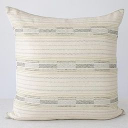 Black and Gold Stripe Pillow Cover 20x20 Beige Pillow   Etsy   Etsy (US)