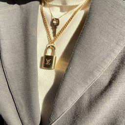 Authentic Louis Vuitton Lock Necklace | Etsy | Etsy (US)