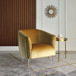 Jeremy 30'' Wide Velvet Barrel Chair | Wayfair North America