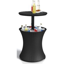 Keter Pacific Cool Bar Outdoor Patio Furniture and Hot Tub Side Table with 7.5 Gallon Beer and Wi... | Walmart (US)
