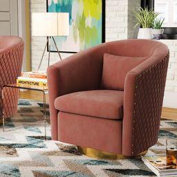 Skye 29.92'' Wide Velvet Swivel Barrel Chair | Wayfair North America