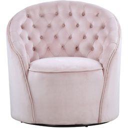 Fermin 30'' Wide Tufted Velvet Swivel Barrel Chair | Wayfair North America