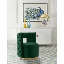Jim 28'' Wide Tufted Velvet Swivel Club Chair | Wayfair North America