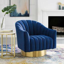 31'' Wide Velvet Swivel Barrel Chair | Wayfair North America