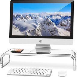 AboveTEK Premium Acrylic Monitor Stand, Custom Size Monitor Riser/Computer Stand for Home Office ... | Amazon (US)