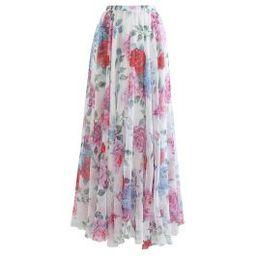 Romantic Moment Rose Print Maxi Skirt | Chicwish