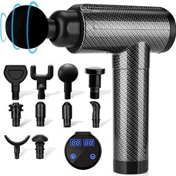 Muscle Massage Gun, Percussion Massage Gun Deep Tissue for Athletes, 30 Speeds Quiet Handheld Mas... | Amazon (US)