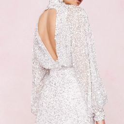 Bridal Balloon Sleeve Embellished Mini Dress | NastyGal