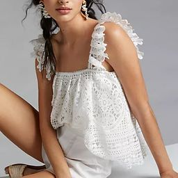 Ruffled Lace Tank   Anthropologie (US)