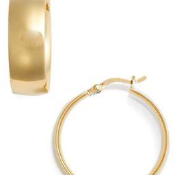 Argento Vivo Flat Edge Hoop Earrings | Nordstrom
