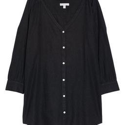 Oversize Linen Blend Cover-Up Shirt | Nordstrom