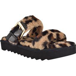 Funkie Faux Fur Platform SlipperNINE WEST | Nordstrom