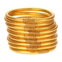 Gold All-Weather Bangles, Size S-L, Set of 9   Neiman Marcus