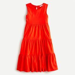 Girls' tiered midi dress in cotton   J.Crew US