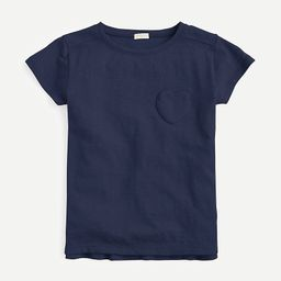 Girls' T-shirt with heart-shaped pocket | J.Crew US