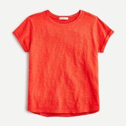 Girls' roll-cuff T-shirt | J.Crew US