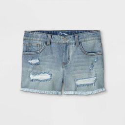 Girls' Raw Edge Jean Shorts - art class™ | Target