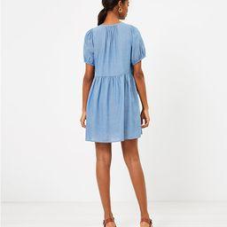 Chambray Puff Sleeve Swing Dress | LOFT | LOFT