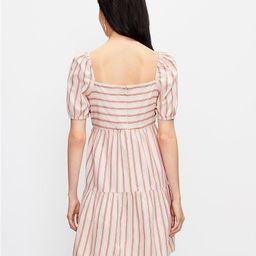 Striped Square Neck Puff Sleeve Dress | LOFT | LOFT