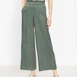 Pull On Wide Leg Pants in Linen Blend | LOFT | LOFT