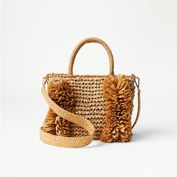 Fringe Straw Crossbody Bag | LOFT | LOFT