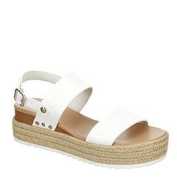 WHITE XAPPEAL Womens Amelia Wedge Sandal   Rack Room Shoes