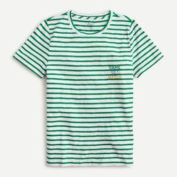 "Slub cotton crewneck T-shirt with ""Game, set, match"" embroidery   J.Crew US"