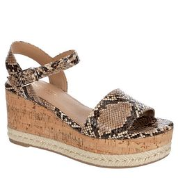 SNAKE MICHAEL BY MICHAEL SHANNON Womens Kaitlin Wedge Sandal   Rack Room Shoes
