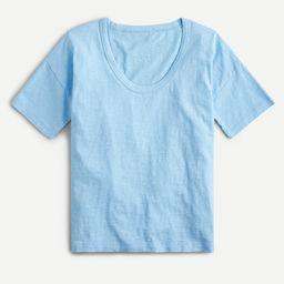 Slub cotton scoopneck T-shirt   J.Crew US
