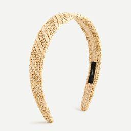 Woven straw headband   J.Crew US