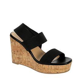 BLACK LIMELIGHT Womens Davina Wedge Sandal   Rack Room Shoes