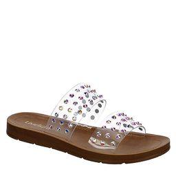 CLEAR LIMELIGHT Womens Shimmer Slide Sandal   Rack Room Shoes