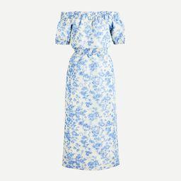 Off-the-shoulder dress in ikat antique floral   J.Crew US